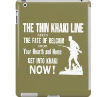 The thin khaki line.... iPad Case/Skin