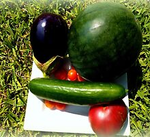 Home Grown Garden Veggies and Fruit by Charmiene Maxwell-batten