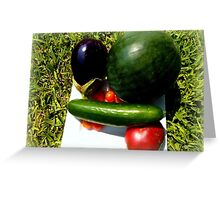 Home Grown Garden Veggies and Fruit Greeting Card