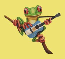 Tree Frog Playing Argentinian Guitar Kids Tee