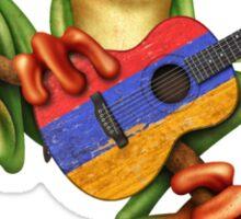 Tree Frog Playing Armenian Guitar Sticker