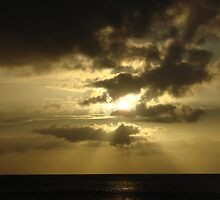 The hiding sun  by Joey Reyes