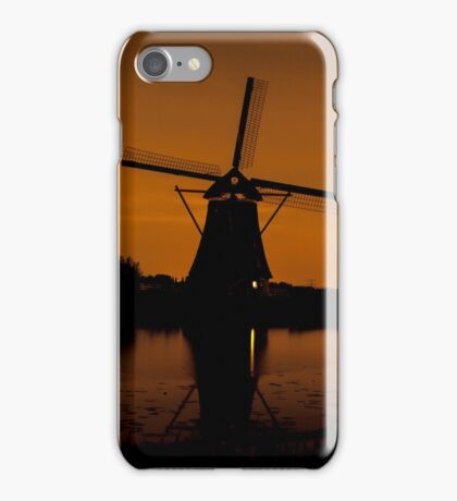 Picturesque landscape with windmills iPhone Case/Skin