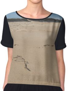 Stick in the Sand Chiffon Top
