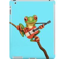 Tree Frog Playing Austrian Guitar iPad Case/Skin