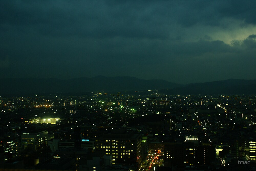 Japan - An Ariel Night in Kyoto 2 by tmac