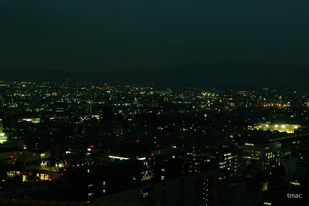 Japan - An Ariel Night in Kyoto 3 by tmac