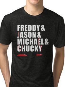 Freddy, Jason, Michael & Chucky Tri-blend T-Shirt