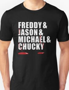 Freddy, Jason, Michael & Chucky Unisex T-Shirt