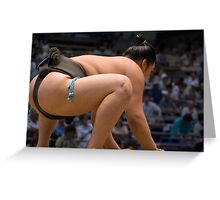 Squatting Sumo Greeting Card