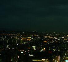 Japan - An Ariel Night in Kyoto 5 by tmac
