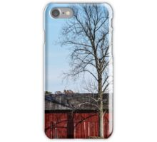 Red Barn With Tree iPhone Case/Skin