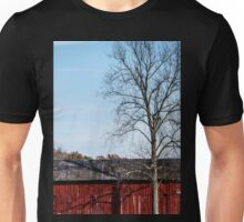 Red Barn With Tree Unisex T-Shirt