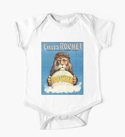 CYCLES ROCHET; Vintage Advertising Print One Piece - Short Sleeve