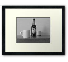 bottled beer Framed Print