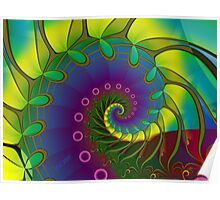 Hippie Stained Glass Poster