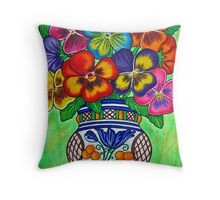 Pansy Parade Throw Pillow