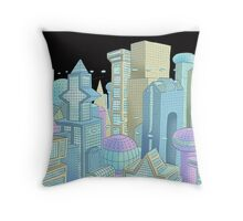 Future city Throw Pillow