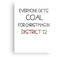Coal for Christmas Metal Print