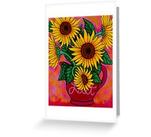 Saturday Morning Sunflowers Greeting Card