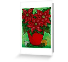 Poinsettia Season Greeting Card
