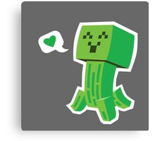 Creeper Loves You Canvas Print