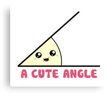 A Cute Acute Angle Canvas Print