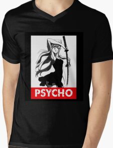 Anime psycho shirt Mens V-Neck T-Shirt