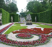Garden at Linderhof, Germany by charuavi