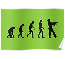 Evolution of Zombies (Zombie Walking Dead) Poster