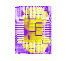 Circuitry man Art Print