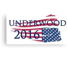 Campaign Underwood 2016 Canvas Print