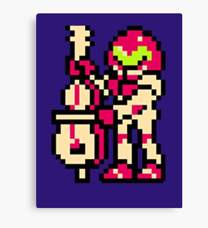 Metroid Musician from Tetris Canvas Print