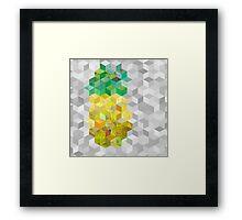 Hazy pineapple cubes Framed Print
