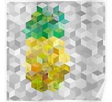 Hazy pineapple cubes Poster