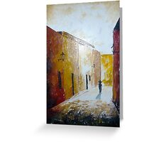 Calle empedrada Greeting Card