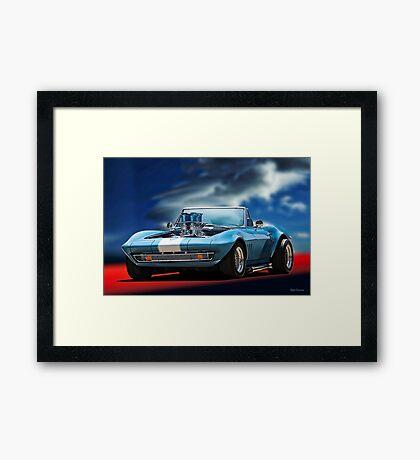 1965 Corvette 'Injected' Roadster Framed Print