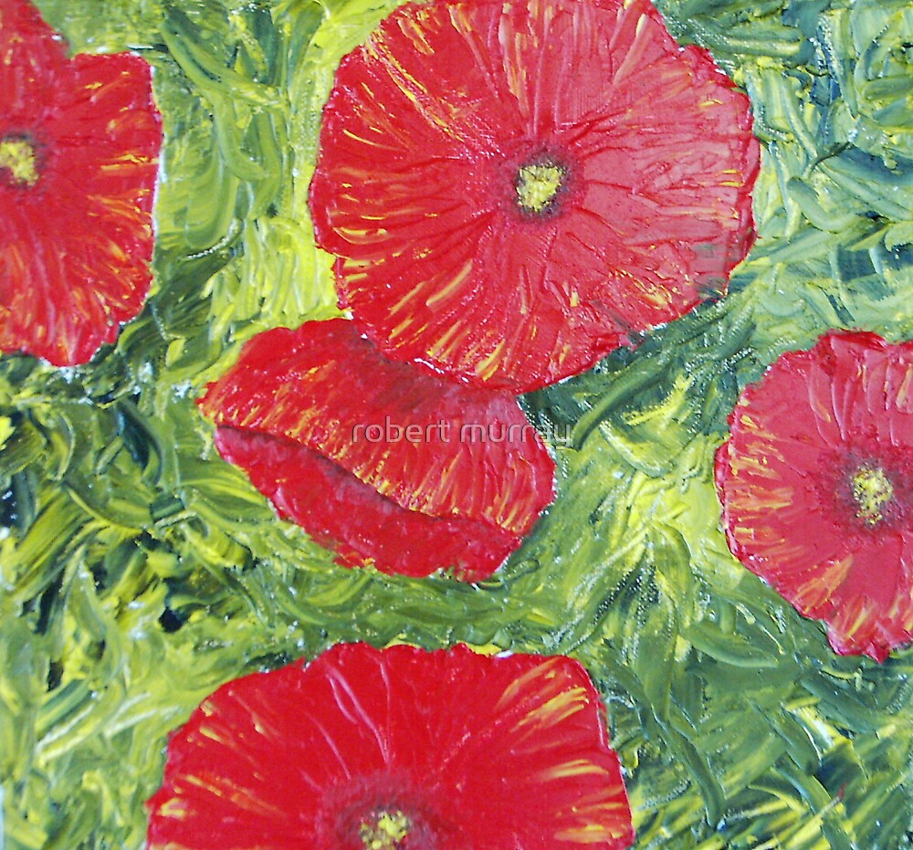 red poppies #2 by robert murray