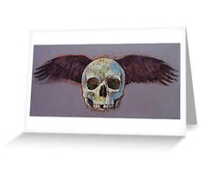 Raven Skull Greeting Card
