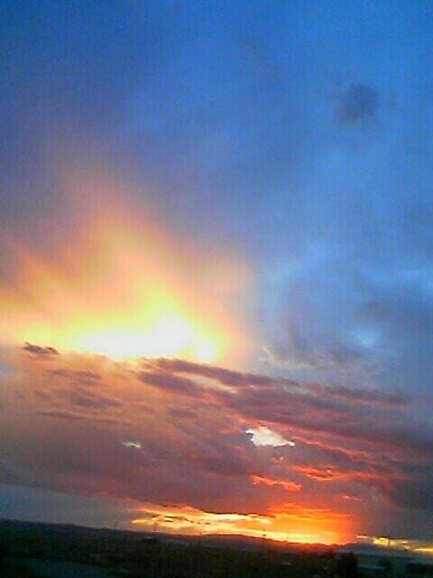 clouds at sunset by kathy