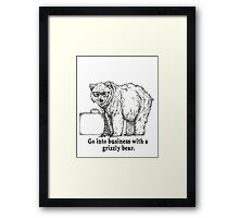 Go Into Business with a Grizzly Bear Framed Print