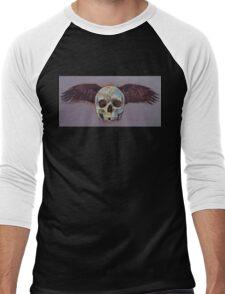 Raven Skull Men's Baseball ¾ T-Shirt