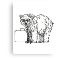 Go into Busines with a Grizzly Bear (2) Canvas Print