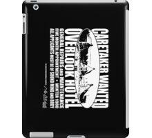 Caretaker Wanted (White Print) iPad Case/Skin