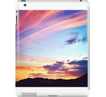 Colorful Sunset ~ digital paint effect  iPad Case/Skin