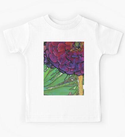 watercolor painting of purple succulents Kids Tee