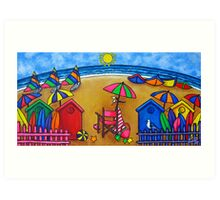 Beach Colours Art Print