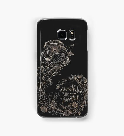 Nevertheless She Persisted, Gold Samsung Galaxy Case/Skin