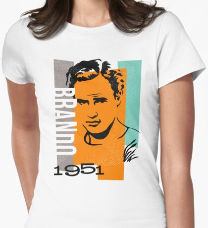 Original Graphic Design Portrait of Marlon Brando Womens Fitted T-Shirt