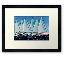 Regatta Blue Framed Print